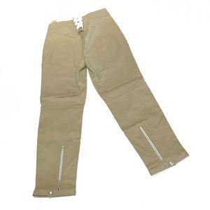 Rag-Bone 2 Khaki Trousers Zipper and Lace Up Dets